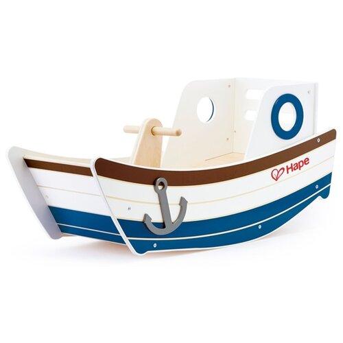 Купить Качалка Hape High Seas Rocker (E0102) белый/синий, Каталки и качалки