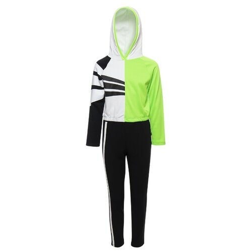 Купить Спортивный костюм Nota Bene размер 152, черный/зеленый, Спортивные костюмы