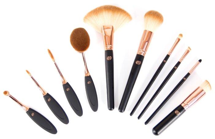 Набор кистей Rio The Makeup Artist's Professional Cosmetic Makeup Brush Collection, 10 шт.