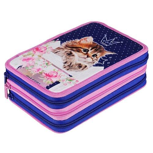 Купить Berlingo Пенал Princess cat (PK06423) синий/розовый, Пеналы
