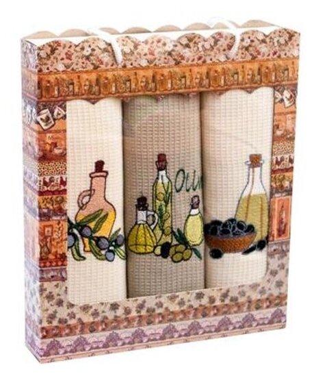 Florento Набор полотенец НВ3-8 кухонное 50х60 см бежевый/коричневый