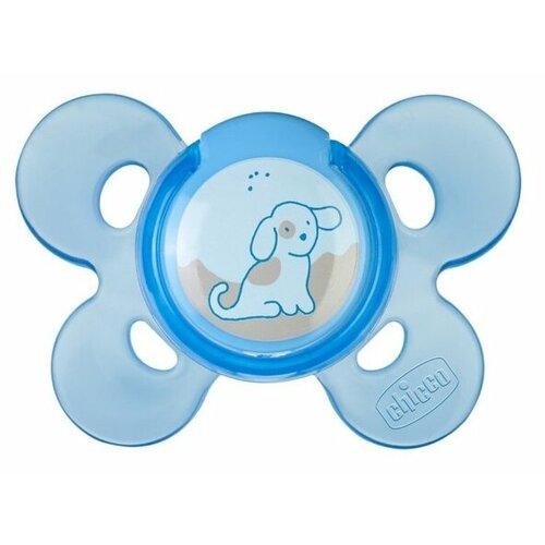 Пустышка силиконовая ортодонтическая Chicco Physio Comfort 0-6 м (1 шт) голубой пустышка силиконовая ортодонтическая chicco physio micro 0 2 м 2 шт голубой динозавр