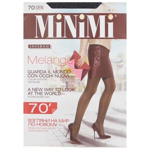 Колготки MiNiMi Melange 70 den, размер 4-L, grigio melange (серый) фото