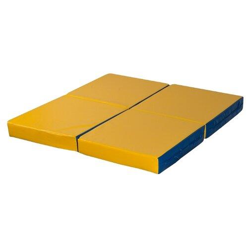 Спортивный мат 1000х1000х100 мм КМС № 11 сине/жёлтый