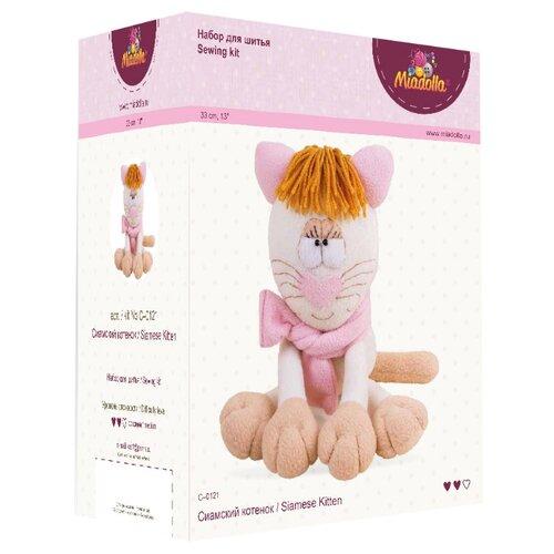 Купить Miadolla Набор для изготовления игрушки Сиамский котенок (C-0121), Изготовление кукол и игрушек