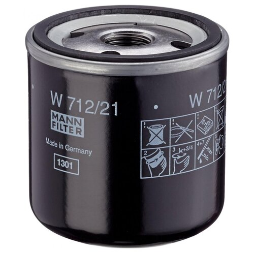 Масляный фильтр MANNFILTER W 712/21 масляный фильтр mannfilter w 712 4