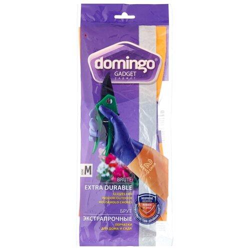 Перчатки DOMINGO Gadget Brute экстрапрочные, 1 пара, размер M, цвет фиолетовый/оранжевый