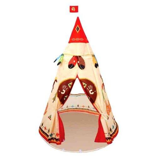 Купить Палатка Yako Вигвам YTM6789 коричневый/красный, Игровые домики и палатки