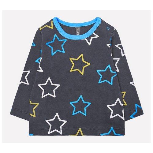 Купить Лонгслив crockid размер 74, серый/голубой, Футболки и рубашки
