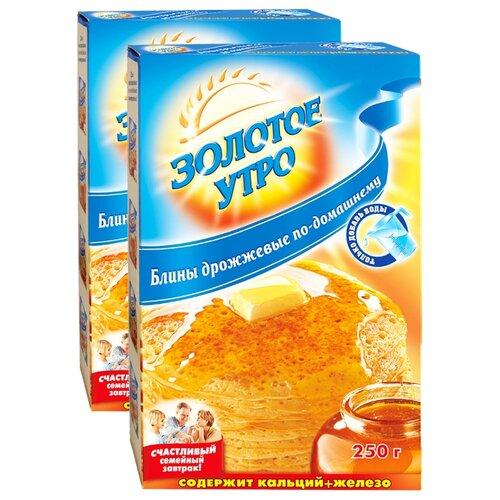 Золотое утро Мучная смесь Блины дрожжевые по-домашнему (2 шт.), 0.25 кг