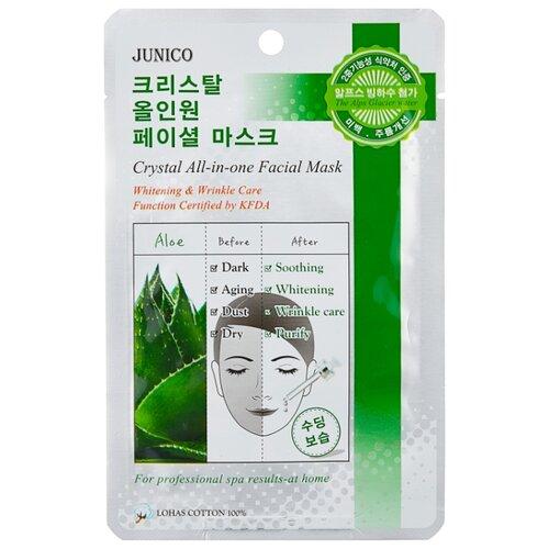MIJIN Cosmetics тканевая маска Junico Crystal All-in-one с алоэ, 25 г in cosmetics интернет магазин