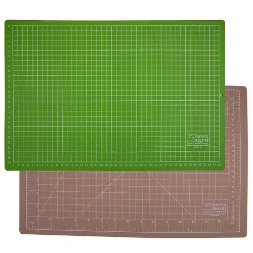 Купить Gamma Мат для резки двусторонний DKD-03 45 x 30 см формат А3 бежевый/салатовый, Инструменты и аксессуары