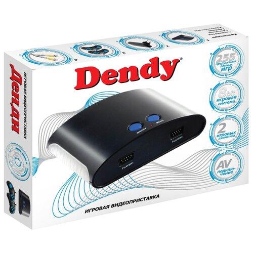 Игровая приставка Dendy 255 встроенных игр черный кошелек new dendy