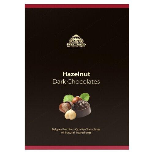 Набор конфет Sweet Fargo Дробленый фундук & пьемонтский орех в темном шоколаде 100 г черный laima царицино ассорти конфет в темном шоколаде 360 г