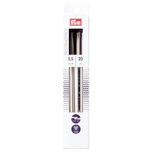 Купить Спицы Prym чулочные Ergonomics, диаметр 3.5 мм, длина 20 см, алебастровый белый
