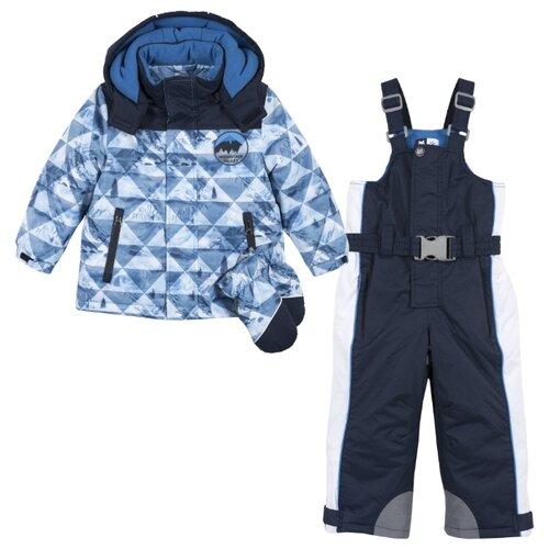 Купить Комплект с полукомбинезоном Chicco размер 92, темно-синий, Комплекты верхней одежды