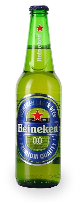 Пивной напиток Heineken безалкогольный пастеризованное 0% 0.5 л стекло