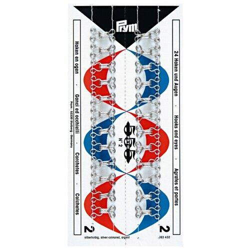 Купить Prym Крючки и петли №2 (263432), серебристый (24 шт.), Фурнитура