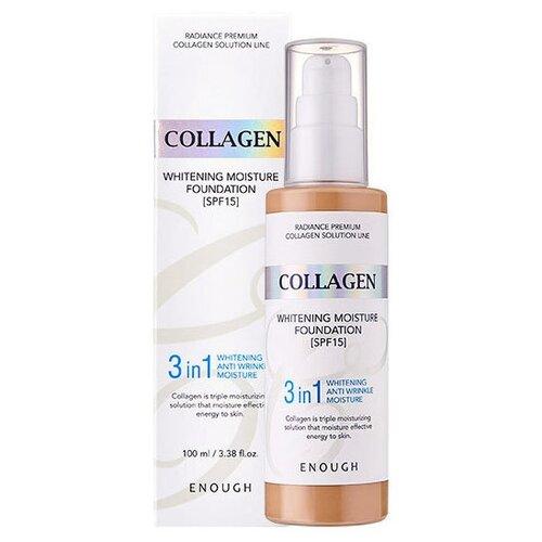 Enough Тональный крем Collagen Whitening Moisture Foundation, 100 мл, оттенок: тон №23 collagen moisture foundation spf