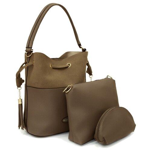Сумка хобо Kingth Goldn, искусственная кожа, коричневый сумка хобо amo la vita jk 92bwc 005 искусственная кожа