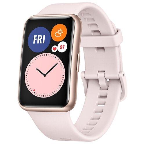 Умные часы c GPS HUAWEI Watch Fit розовая сакура умные часы c gps huawei watch gt classic коричневый