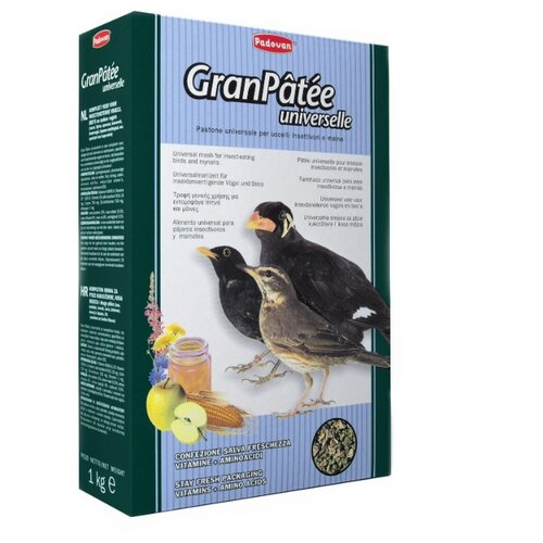 Padovan корм Granpatee Universelle для насекомоядных птиц 1000 г