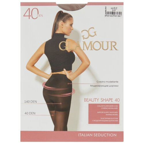 Колготки Glamour Beauty Shape 40 den, размер 3-M, miele (бежевый) колготки glamour beauty shape 40 den размер 4 l daino бежевый