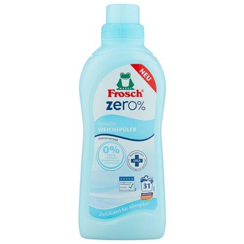 Концентрированный ополаскиватель для белья Zero Sensitiv Frosch 0.75 л флакон концентрированный ополаскиватель для белья лаванда frosch 0 75 л флакон