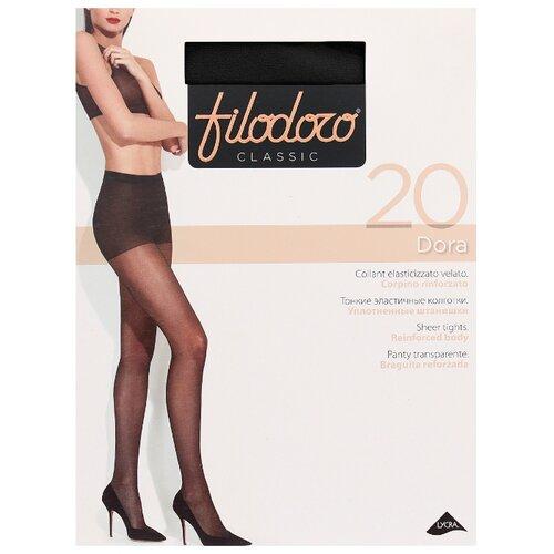 Колготки Filodoro Classic Dora 20 den, размер 5-XL, nero (черный) колготки filodoro classic dora 20 den размер 5 xl glace коричневый