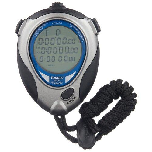 Электронный секундомер TORRES SW-80 серебристый/черный/синий