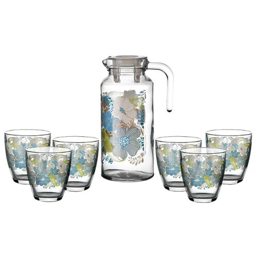 Набор Pasabahce Dream кувшин + стаканы 7 предметов прозрачный/голубой