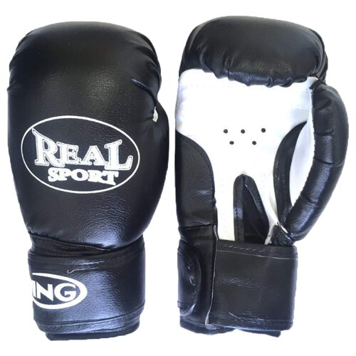 Боксерские перчатки Realsport ES-06 черный 10 oz