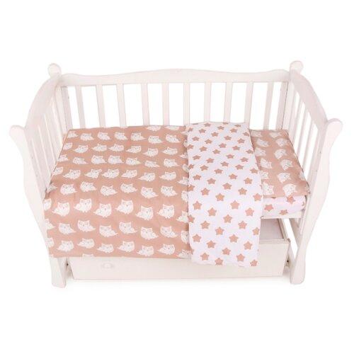 Фото - Amarobaby комплект в кроватку Baby Boom Пряники (3 предмета) коричневый amarobaby комплект в кроватку baby boom короны 3 предмета серый