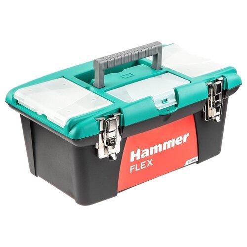 цена на Ящик с органайзером Hammer Flex 235-020 40x25x18 см 16'' черный/зеленый