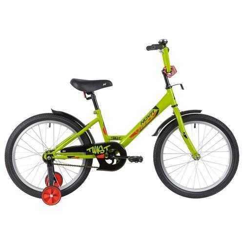 Фото - Детский велосипед Novatrack Twist 20 (2020) зеленый (требует финальной сборки) детский велосипед novatrack twist 20 2020 зеленый требует финальной сборки