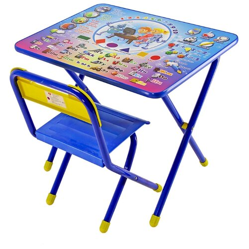 Купить Комплект ДЭМИ стол + стул 1 Электроник 60x45 см синий, Парты и столы