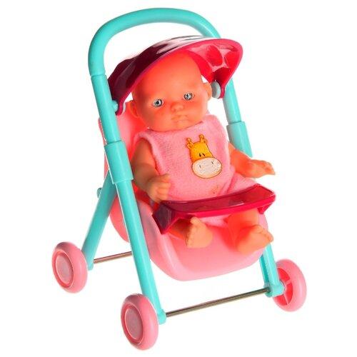 Купить Пупс Гратвест с кроваткой, стульчиком, ходунками, ванной, 30*15*12, 5 см (Д44686), Куклы и пупсы