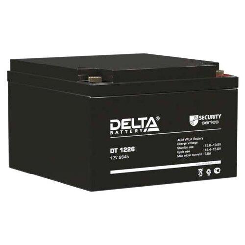 Фото - Аккумуляторная батарея DELTA Battery DT 1226 26 А·ч аккумуляторная батарея delta battery gel 12 33 33 а·ч