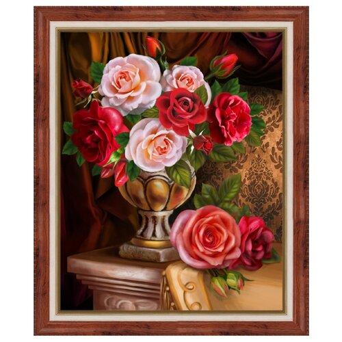 Купить Алмазная живопись Набор алмазной вышивки Благородные розы (АЖ-1731) 30х40, Алмазная вышивка