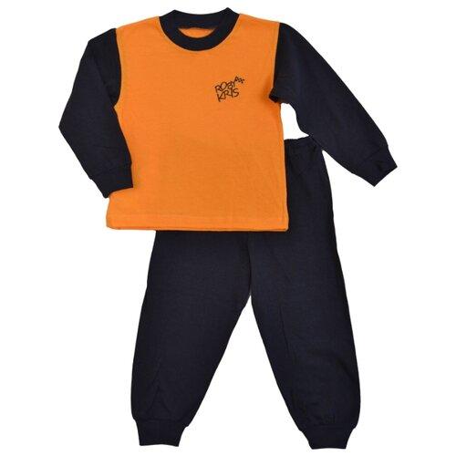 Пижама RobyKris размер 92/98, темно-синий/оранжевый