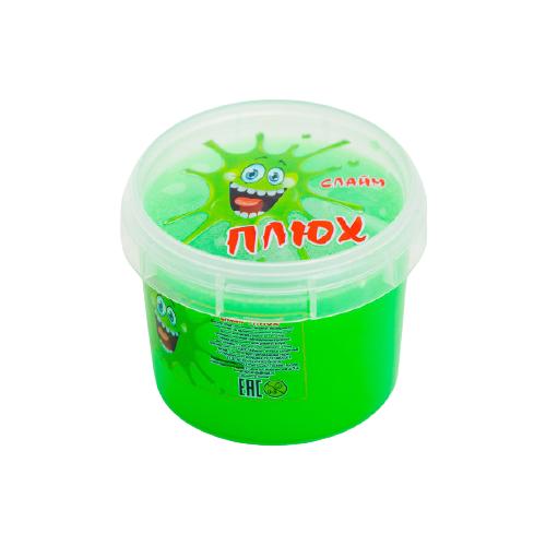 Лизун Плюх в контейнере зеленый