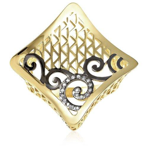 KABAROVSKY Кольцо с 18 бриллиантами из жёлтого золота 11-21127-1000, размер 18 фото