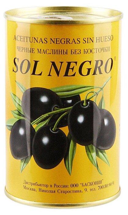 Sol negro Маслины в рассоле без косточки, жестяная банка 480 г