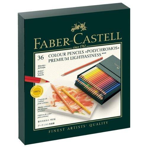 Купить Faber-Castell Карандаши цветные Polychromos, 36 цветов (110038), Цветные карандаши