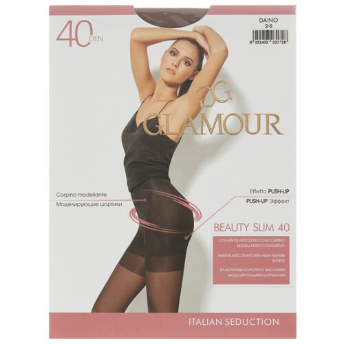 Колготки Glamour Beauty Slim 40 den, размер 2-S, daino (бежевый) колготки glamour beauty shape 40 den размер 4 l daino бежевый