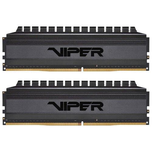 Оперативная память Patriot Memory VIPER 4 BLACKOUT DDR4 3200 (PC 25600) DIMM 288 pin, 4 ГБ 2 шт. 1.35 В, CL 16, PVB48G320C6K