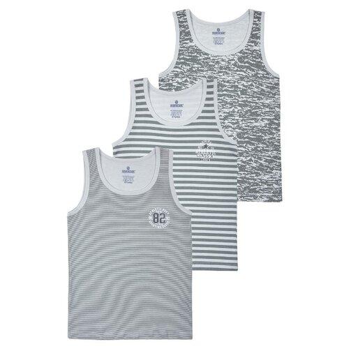 Купить Майка BAYKAR 3 шт., размер 110/116, серый, Белье и пляжная мода