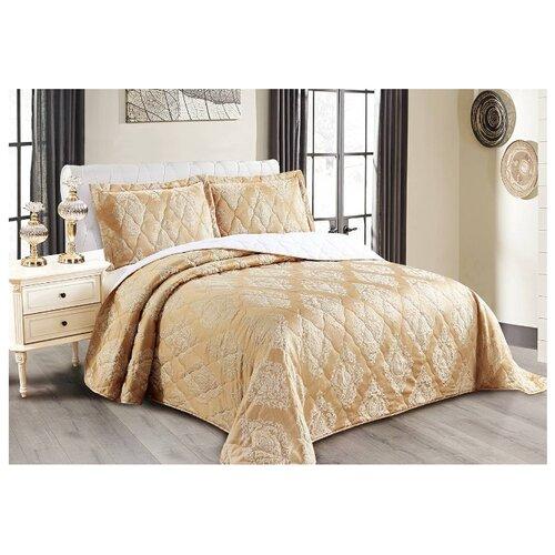 Комплект с покрывалом Cleo Versailles 240х260 см, золотистый комплект с покрывалом cleo versailles 240х260 см коричневый