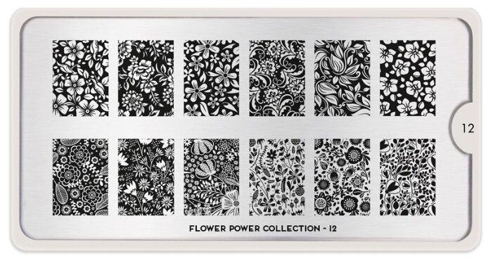 Трафарет MoYou London Flower Power №12 12.5 х 6.5 см
