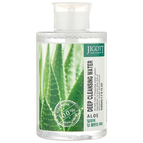 Jigott вода очищающая с экстрактом алоэ Deep Cleansing Water Aloe, 530 мл очищающая вода урьяж
